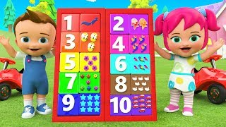 Numbers Board Game Toy 3D - Learning Colors & Numbers for Children Kids Babies Toys Educational