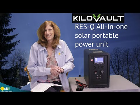 KiloVault's RES-Q Kit 1500 is an all-in-one solar power system.  It was designed specifically to provide emergency backup power for your most critical household appliances and devices - such as lighting, fans, cellphone/tablet charging -- and even your ref