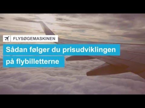 Sådan følger du prisudviklingen på flybilletterne