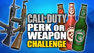 PERK or WEAPON CHALLENGE! CHOOSE WISELY! (Call of Duty Custom Zombies)