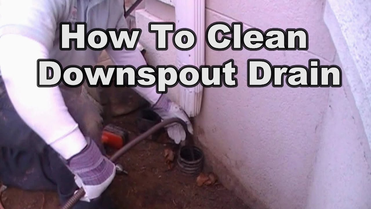 how to clean a downspout drain line youtube. Black Bedroom Furniture Sets. Home Design Ideas