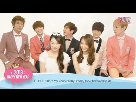 SHINee 샤이니 & f(x) 에프엑스 ETUDE HOUSE HAPPY SWEET NEW YEAR 2013 ♥