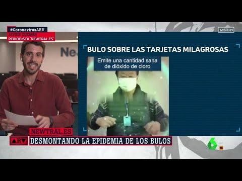 """El bulo de las tarjetas 'milagrosas' de dióxido de cloro que """"protegen"""" del COVID - Al Rojo Vivo"""