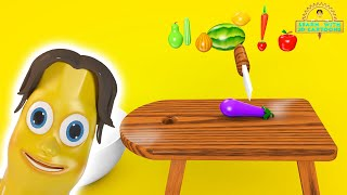 Learn vegetables and fruits names making salad! Colorful and delicious animation with 3D Cartoon!