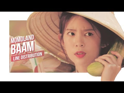 MOMOLAND - BAAM Line Distribution (Color Coded) | 모모랜드 - 배엠