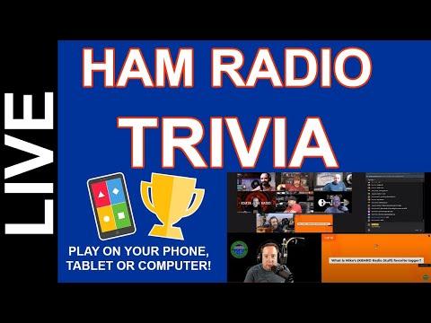 Ham Radio Trivia Live - Oct 16 2020 8pm CDT Come Play!