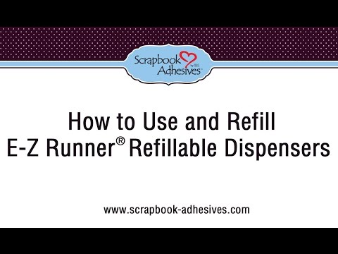 How to Use and Refill the E-Z Runner Refillable Dispenser