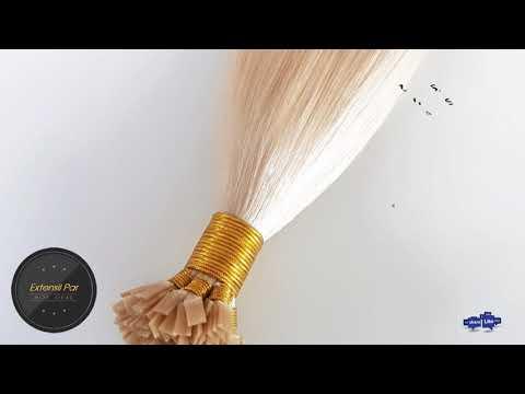 Extensii de Par Natural Cheratina Premium Blond Perlat 101