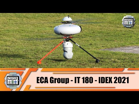 IDEX 2021 ECA Group presents its IT 180 UAV Unmanned Aerial Vehicle defense exhibition Abu Dhabi UAE