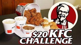 KFC $20 FILL UP MENU FAST FOOD CHALLENGE!!