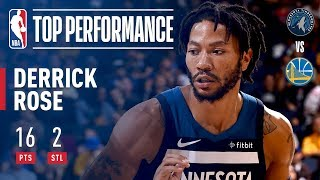 Derrick Rose Drops 16 Points Vs Golden State Warriors In Preseason!