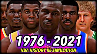 I Reset The NBA To 1976 & Re-Simulated ALL OF NBA HISTORY | CHAPTER 2: The Jordan Era