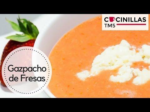 Gazpacho de Fresas y Queso de Cabra   Recetas Saludables   Recetas Thermomix