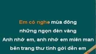 Buc Thu Tinh Dau Tien Karaoke - Tấn Minh - CaoCuongPro