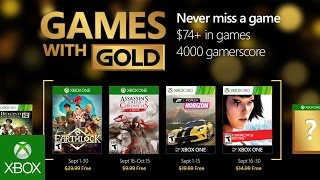 Xbox Games with Gold free games for September 2016 announced