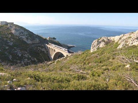 """Linha ferroviária """"Côte Bleue"""" reabre no sul de França"""