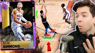GALAXY OPAL BEN SIMMONS HITTING 3 POINTERS!!?! WAIT WHAAAT?! NBA 2K19 My Team