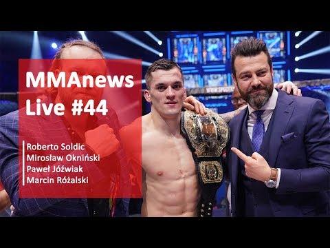 MMAnews Live #44: Podsumowanie KSW 41, cenzura i ban, na żywo od 19:00