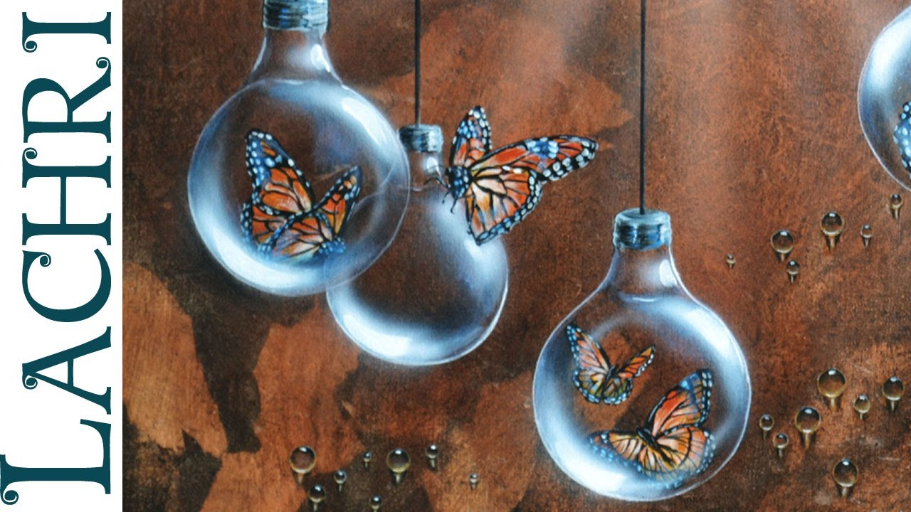 Time Lapse Surreal Butterfly And Lightbulb Acrylic