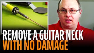 Watch the Trade Secrets Video, The HeatStick: remove glued necks with no damaging steam