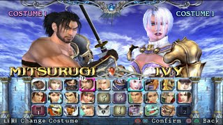 Soulcalibur 3 Opening and All Characters [PS2]