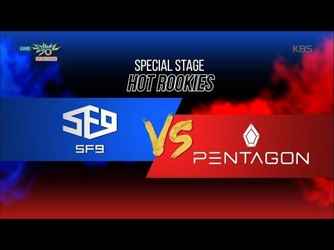 MUSIC BANK 뮤직뱅크 - SF9 vs PENTAGON 펜타곤 - Fanfare 팡파레 + GORILLA'.20161021