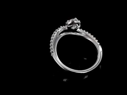 Browns Family Jewellers White Gold Diamond Twist Ring