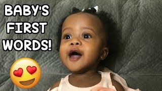 Baby Ryan Says Her First Words! SO CUTE!