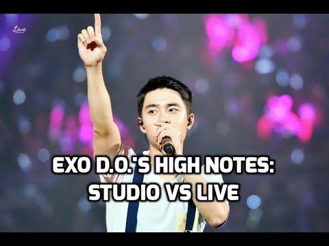 EXO D.O. Kyungsoo - High Notes: Studio vs Live | 엑소 - 디오 고음비교: 스튜디오 vs 라이브
