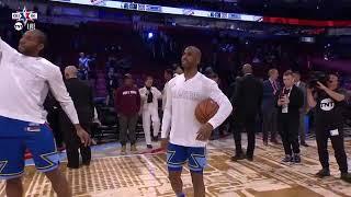 Kawhi Leonard and Chris Paul Mic'd Up having fun before All-Star Game