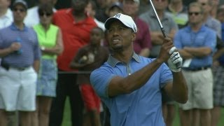 Tiger Woods shoots 61 in Round 2 of Bridgestone Invitational