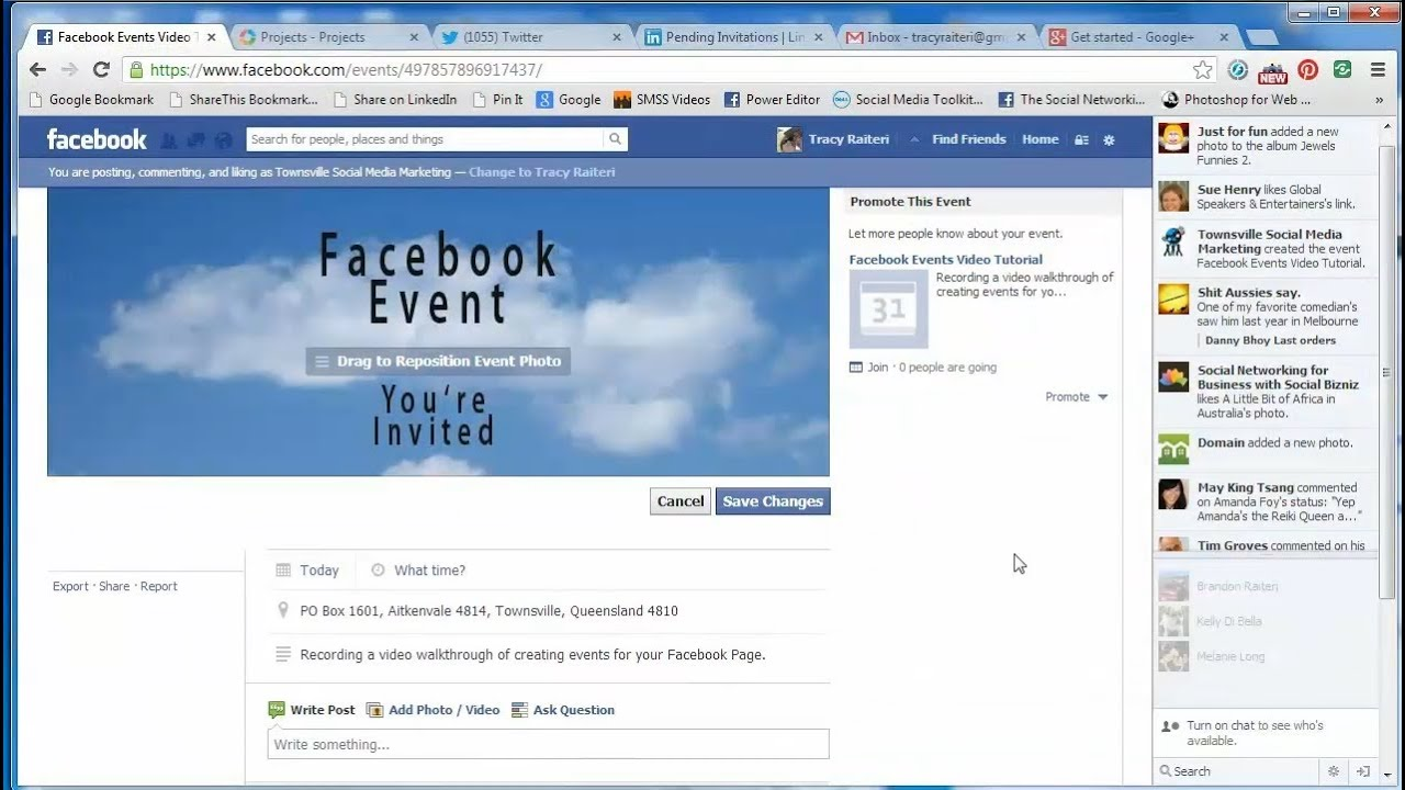 how to create a facebook page event and add a banner image. Black Bedroom Furniture Sets. Home Design Ideas