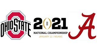 2021 CFP National Championship, #3 Ohio State vs #1 Alabama (Highlights)