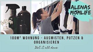 PUTZMOTIVATION -  extra lang 🙈🙉🙈 AUSMISTEN, organisieren & PUTZEN XXL I Alenas Momlife