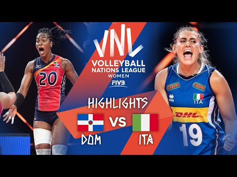 Dominican Republic vs. Italy - FIVB Volleyball Nations League - Women - Match Highlights, 12/06/2021