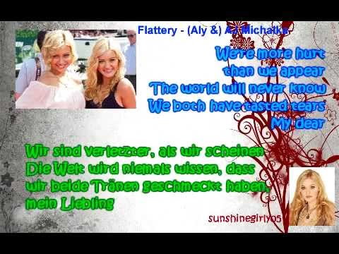 (Aly &) AJ (78violet) - Flattery (Lyrics & german translation)