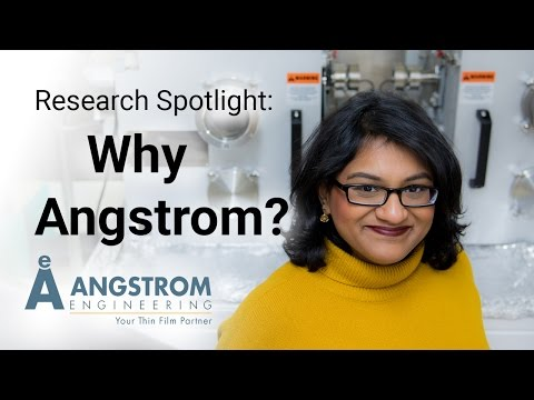 Research Spotlight | Trisha Andrew | Why Angstrom?