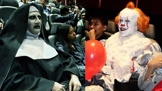 FUNNIEST Scare Pranks COMPILATION | Pennywise VS Valak! (Who's Scarier?!)