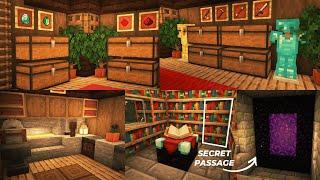 Minecraft   How to Build Survival Basement with Secret Passage
