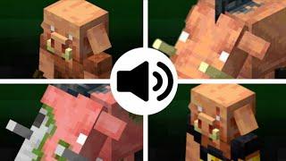 Todos los sonidos de mobs (piglin, hoglin, zoglin y piglin bruto) #Minecraft
