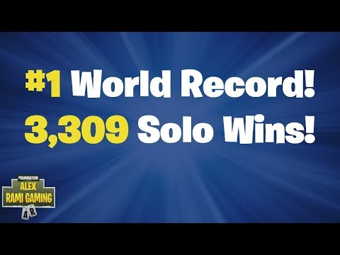 #1 World Record 3,309 Solo Wins | Fortnite Live Stream