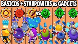 GADGETS vs BASICOS + STAR POWERS | CUAL ES MEJOR HABILIDAD? | OLIMPIADAS de BRAWL STARS