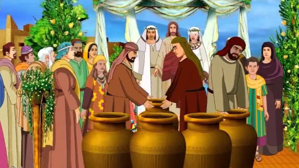 Jesus Turns Water Into Wine In The Wedding At Cana Bible