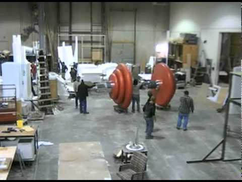 Atomic Props Mastercard Giant Dumbbell time-lapse