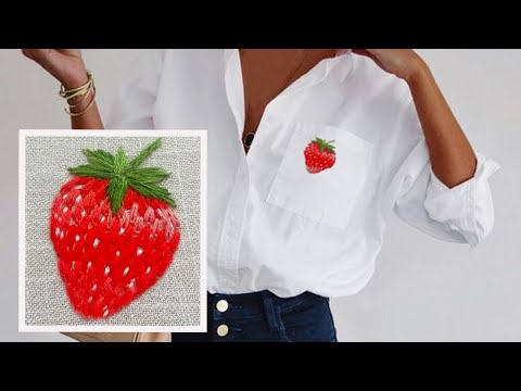 Strawberry & Flower Embroidery | + pattern