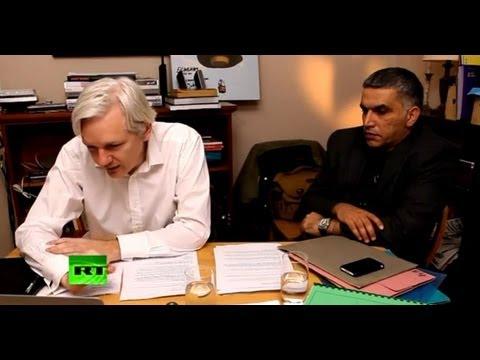 Julian Assange\'s The World Tomorrow: Nabeel Rajab & Alaa Abd El-Fattah (E4)