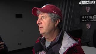 Mike Leach after practice Dec. 19