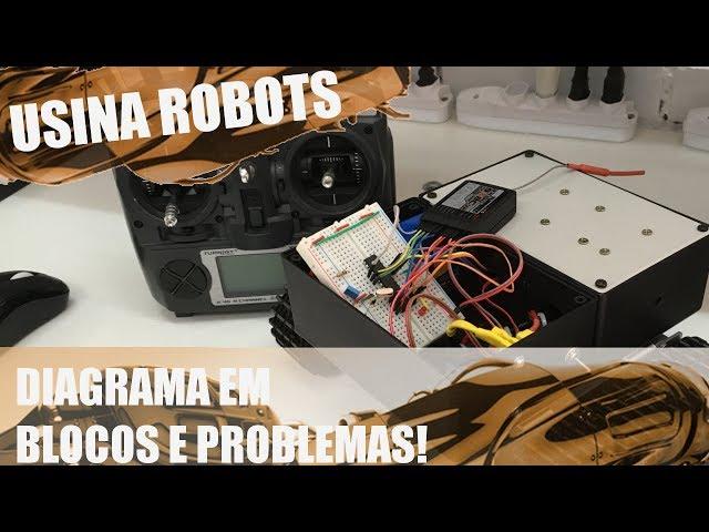 DIAGRAMA EM BLOCOS E PROBLEMA SÉRIO COM O ROBÔ | Usina Robots US-2 #043