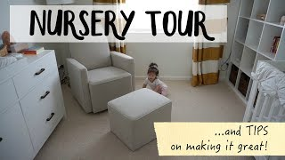 Nursery Tour and Tips   How to make a functional nursery