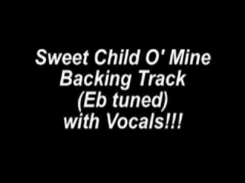 Sweet Child O' Mine pista para guitarra  (Mi b) con voz.avi